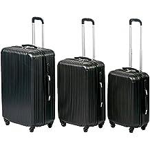 T-Lovendo LS248 Juego 3 Maletas De Viaje Set Trolley Abs Semirigidas Candado 4 Ruedas