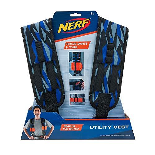 Hasbro Nerf Elite Weste NER0155, blau und grau, Einheitsgröße