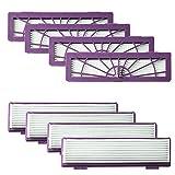 JVSISM Paquet De 8 Accessoires De Filtres De Haute Performance pour Toutes Neato...