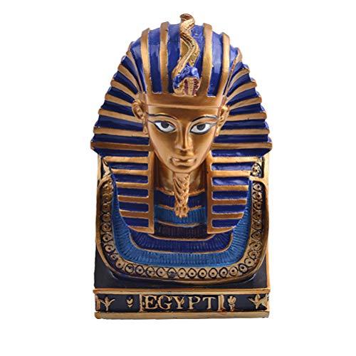 Descripción   La escultura del faraón egipcio está hecha de resina sintética, duradera y hermosa. Es un gran regalo para los amantes de la historia. La artesanía es de gran artesanía, y la artesanía consumada refleja su largo sentido histórico. La e...