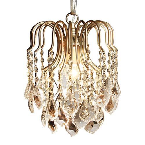 Pendelleuchten Moderne Kristall-K9 Gang LED Pendelleuchte Pendelleuchten abajour für Speise Wohnzimmer Schlafzimmer Küche, Schokolade, ohne Glühlampe, warmes Weiß Küche Schokolade