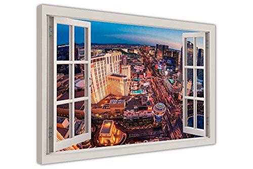 Las Vegas Strip Fenster Effekt 3d-tela künstlerische Wandleuchte mit Bilder von der Presse in Bilderrahmen 38mm zeitgenössisch 04- A1 - 34
