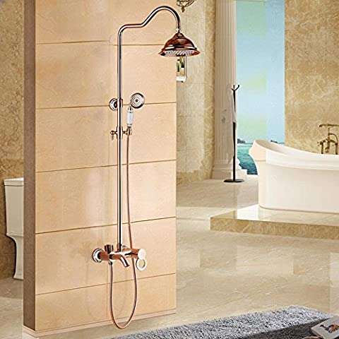 Generale di antiquariato Europeo placcata in rame set doccia Shower tap , Rose Gold