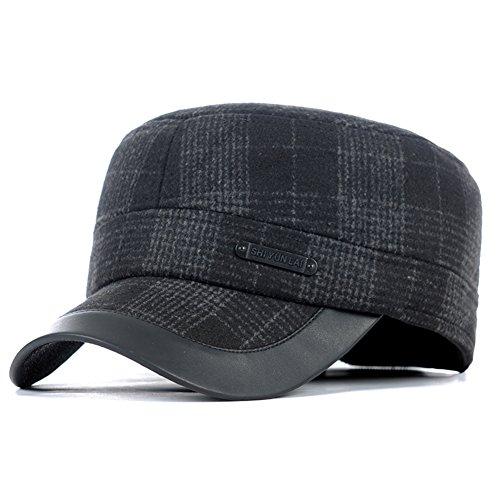 cappello caldo all'aperto di inverno/Vecchi tappi di orecchio per l'autunno/inverno-B Unica