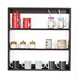 #9: Forzza Donna Multipurpose Wall Shelf (Matt Finish, Wenge)