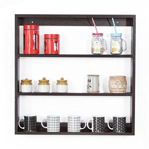Forzza Donna Multipurpose Wall Shelf (Matt Finish, Wenge)