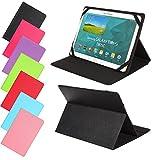 Universal Slim Tasche für Tablet Modelle 7, 8, 9 oder 10 Zoll Größe Schutz Case Hülle Cover (9 / 10 Zoll, Schwarz)