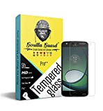 #6: Gorilla guards HD+ Clear tempered glass screen protector for Moto Z2 play 5.5inch (Pro+ series) 9H hardness, oelophobic, UV protect, 2.5D rounded edges, neo coated, free instalation kit, BEST DEAL! (04-Moto-Z2-play-pr+)