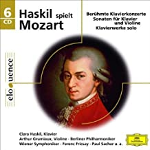 Mozart: Piano Concertos Sonatas by Clara Haskil