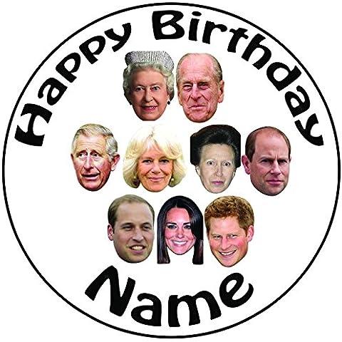 Personalizzato Famiglia Reale–Topper per torta a pre-cut