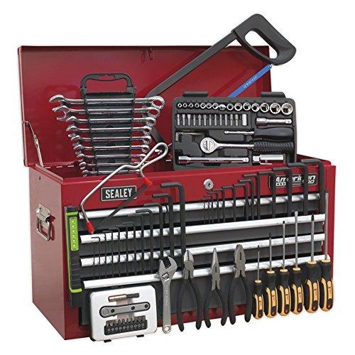 SEALEY Werkzeugkiste/grau 6Schubladen mit Kugellager Läufer-Rot/Grau & 97pc Tool Kit