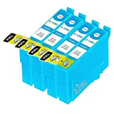 King of Flash Brand New 4 Cyan Compatible Printer Ink Cartridges For Epson T1292 - 4 x Cyan SX420W, SX425W, SX525WD, SX620FW, Office B42WD, BX305F, BX305FW, BX320, BX320FW, BX525WD, BX535WD