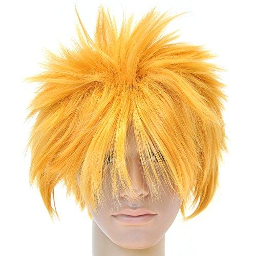 chwertige Naruto Uzumaki Perücke Cosplay (Männliche Halloween Kostüme Lange Haare)
