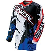 O'Neal Element Kinder MX Jersey SHOCKER Blau Rot Motocross Enduro Offroad, 0025S-50, Größe L