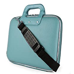 SumacLife Cady Collection Carry Bag Briefcase with Removable Shoulder Strap for Micromax Canvas Lapbook L1161 11.6-inch Laptop (Blue)