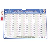 ZooBooKoo Times Tables in Order with Secret Decoder Activity Place Mat - Multiplication for 5+ Years