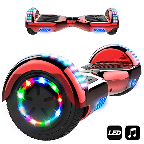 Markboard Hoverboard Bluetooth 6.5 Pouces, Gyropode Overboard Smart Scooter (rouge)