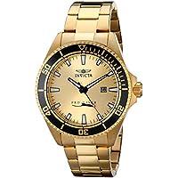Invicta Pro Diver - 15186 Orologio da Polso, Analogico, Uomo, Cinturino Acciaio  Inossidabile, Oro