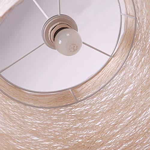 GZZ Gyy Home Hotel Beleuchtung Exquisite Kronleuchter, Nordic Kreative Kunst Persönlichkeit Restaurant Wicker Gewebt Kronleuchter Schatten Wohnzimmer Deckenleuchte E27