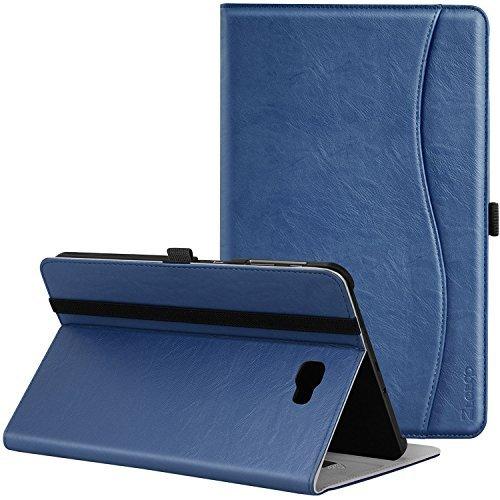 Ztotop Hülle für Samsung Galaxy Tab A 10,1,für Modell SM-T580/T585 (Keine S Pen-Version), Leder Geschäftshülle mit Ständer,Kartensteckplatz,Auto Schlaf/Aufwach Funktion,Mehrfachwinkel,Navy Blau