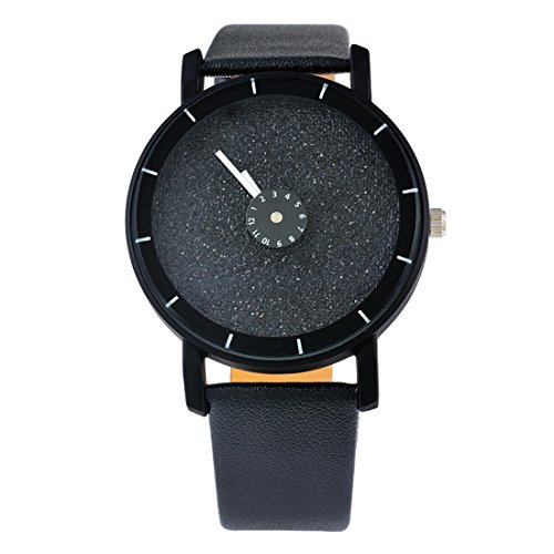 Souarts Damen Schwarz Einfach Design Armbanduhr Ohne Graduierung Quartzuhr Analog mit Batterie