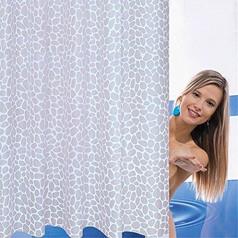QEWA® Rideaux de douche Polyester Plus épais Barrière de bain imperméable à l'eau imperméable à l'humidité (78,74 * 78,74 pouces) , 180*200cm