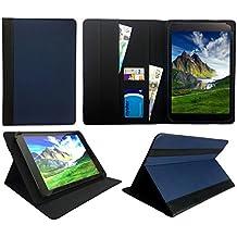 Wind Tab 10 Tablet PC 10.1 Pollici Blu Con il Taglio Nero Universale Rotazione PU Pelle Custodia Case Cover ( 10 - 11 Pollici ) di Sweet Tech