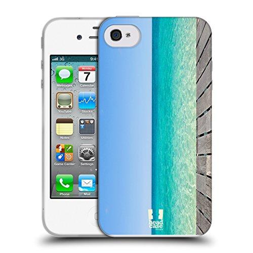 Head Case Designs Blaues Meer Und Friedlicher Himmel Wundevolle Strände Soft Gel Hülle für Apple iPhone 4 / 4S Iphone 4s 8gb