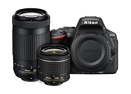 Black , Dual Lens Kit (18-55mm VR & 70-300mm Lens) , Base : Nikon D5500 DX-format Digital SLR Dual Lens Kit w/ - Nikon AF-P DX NIKKOR 18-55mm f/3.5-5.6G VR & Nikon AF-P DX NIKKOR 70-300mm f/4.5-6.3G ED Lens