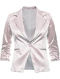 488c282e7745 Sambosa Eleganter Damenblazer Blazer Baumwolle Jäckchen Business Freizeit  Party Jacke in 26 Farben 34 36 38
