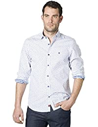 Etiem Camisa Sport Slim Fit 1740/6213 Blanca/Azul
