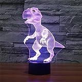 Dinosaurier 3D bunte Lichter LED Lampe Acryl Vision Stereoskopische 3D Touch Lampe Nacht Licht bunte Steigung Lampe