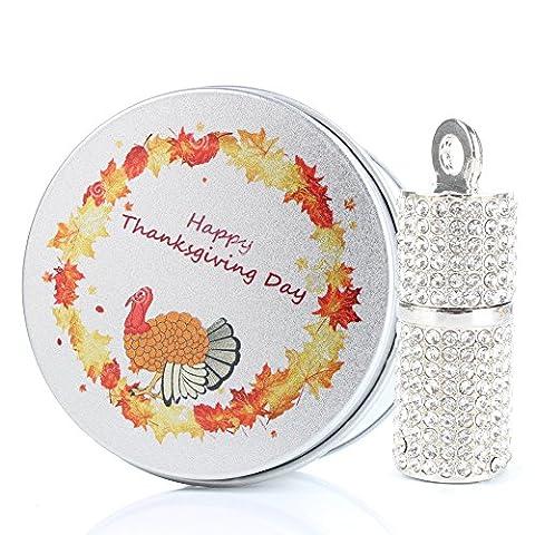 8G / 16G / 32G / 64G USB-flash-laufwerk Blingbling Kristallklarer Diamant-Zylinder-silberner Schmucksache Speicherstick-Metall-Türkei-Geschenk-Kästen Danksagungs-Tag 8GB