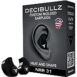 Decibullz Custom Molded Earplugs Negro negro Talla:talla única
