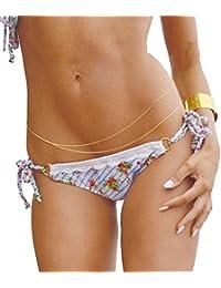ORQingsun Nouvelle chaîne à la taille - Femmes - Style double chaîne Superbe Bikini Sexy Cadrage - plaqué Or