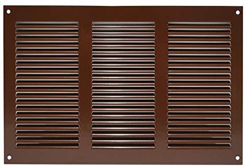 Lüftungsgitter Abschlussgitter Insektenschutz Abluft Zuluft Gitter 300x200mm , BRAUN, MR3020b