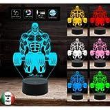 Lampada bodybuilding Culturismo bodybuilder Idea regalo compleanno inaugurazione palestra 7 colori a led con nome…