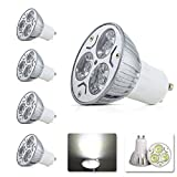 Elinkume 4Stück LED GU10 3W LED Lampe Kaltweiss Glühbirnen Lampe 240LM 230V AC Led Leuchtmittel Spot