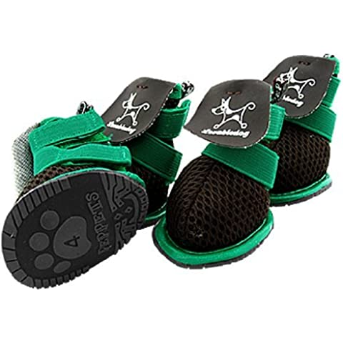 Water & Wood Puppy Pet Dog Velcro Shoes Black Green Booties Boots Sz 4