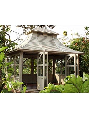 Gartenhaus Queen House Gazebo Mahagoni Holzhaus Geräteschuppen Blockhaus mint
