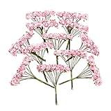 Gleader 144 Stk. Mini Papier Rose Hochzeit Blumen fuer Handwerk Hochzeitsbevorzugungskasten (Rosa)