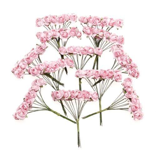 sodial-r-144-pz-mini-fiori-carta-rosa-di-nozze-per-bomboniera-artigianale-rosa
