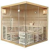 Traditionelle Saunakabine/Finnische Sauna Kuusamo 200 x 200 cm 9 kW | Artsauna