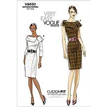 Vogue Patterns V8630 - Patrones de Costura para Vestidos de Mujer (Talla AA: 36