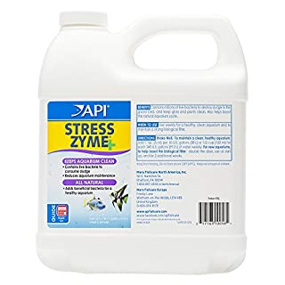 API Stress Zyme Freshwater and Saltwater Aquarium Cleaning Solution Bottle, White, 1.9 Litre