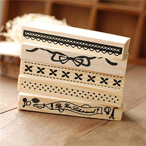 vintage-border-lace-wooden-rubber-stamp-scrapbook-craft-wedding-party-decor