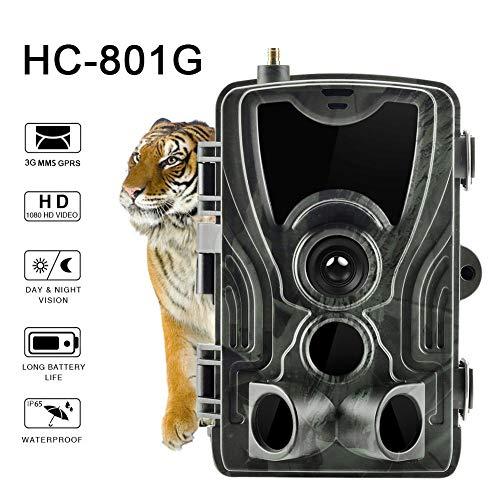 HC-801G 16MP 1080P 3G MMS UMTS Wildkamera IR LED Nachtsicht bis zu 65 Fuß ausgerüstet mit wasserdichter Überwachungs Kamera IP65 für die Jagd auf Wildtiere und für die Sicherheit zu Hause