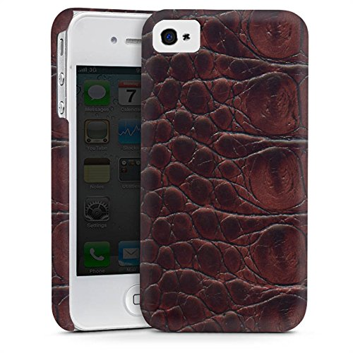 Apple iPhone 5s Housse étui coque protection Look cuir de crocodile Crocodile Motif Cas Premium mat