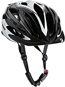cratoni unisex 39 s pacer bicycle helmet black white silver. Black Bedroom Furniture Sets. Home Design Ideas