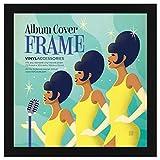 Schwarzer Schallplatten Album Rahmen 31,75x31,75 cm